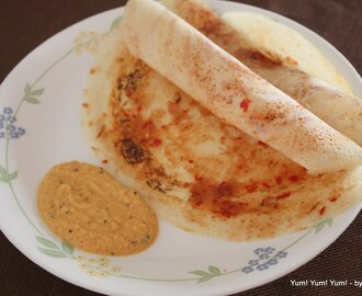 Ulli Kaaram Dosa ~ Rice Crepes stuffed w/ Onion Masala