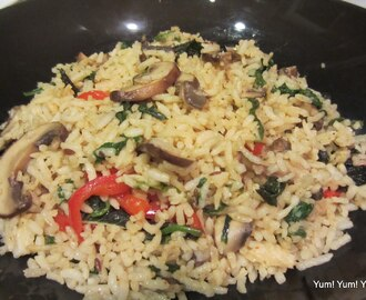 Mushroom Masala Rice {Video Recipe}