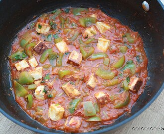 Paneer Capsicum Subji / Cottage Cheese Bell Pepper Curry