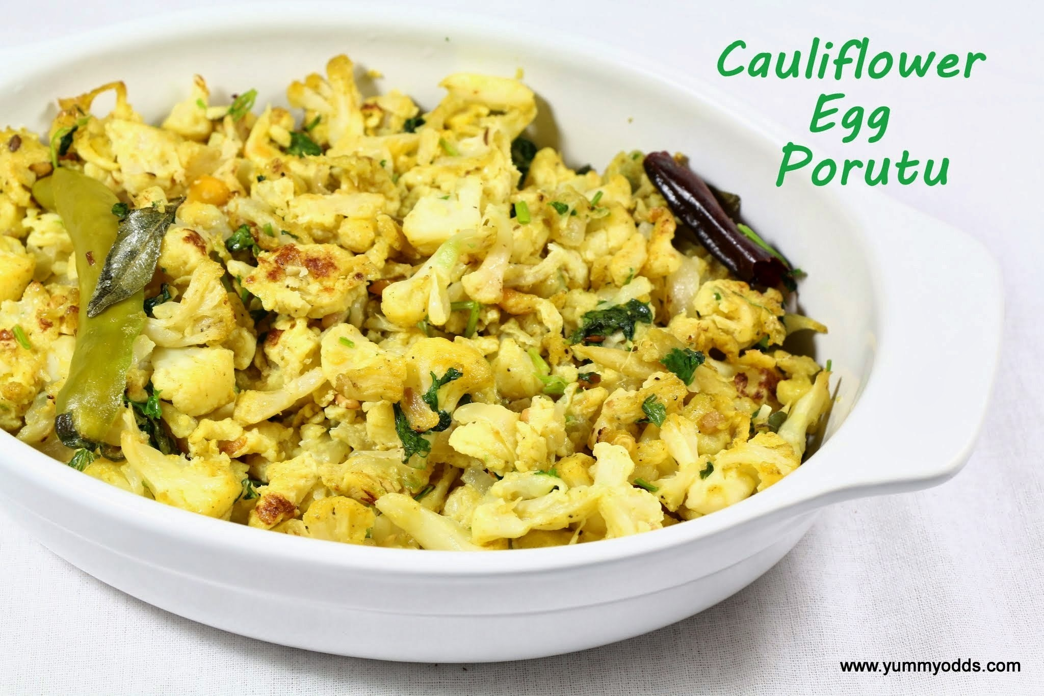 Cauliflower Egg Porutu ~ Cauliflower Egg Scramble