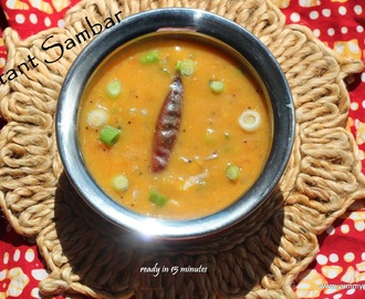 Instant Sambar for Idli / Dosa ( Step - by - Step)