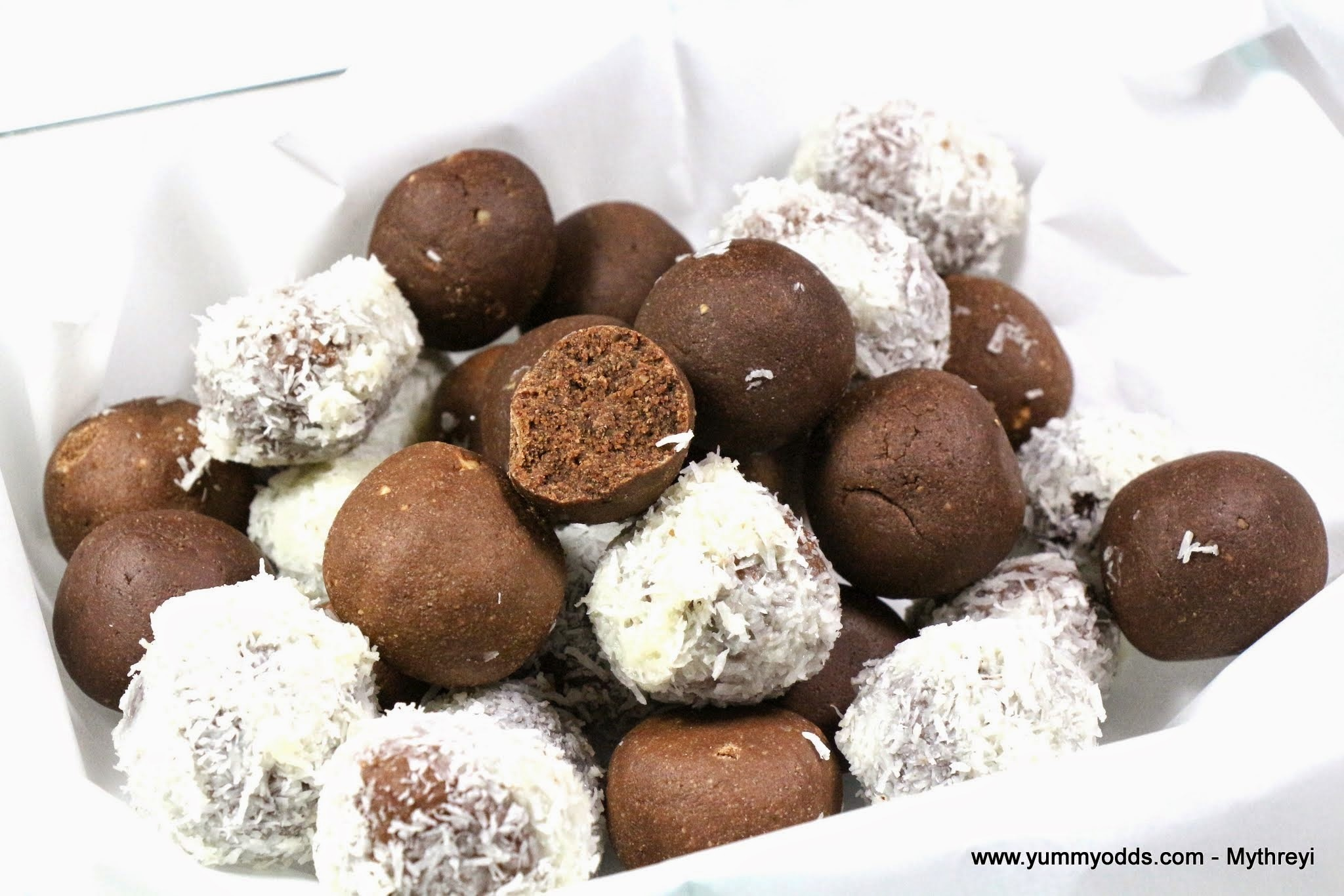Chocolate Balls ( No Bake & No Butter ) { Video Recipe }