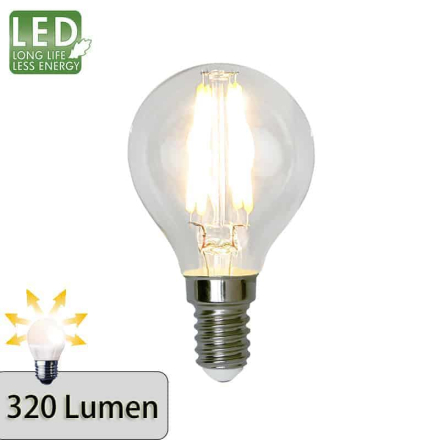 Illumination LED Klar filament lampa E14 2700K 320lm