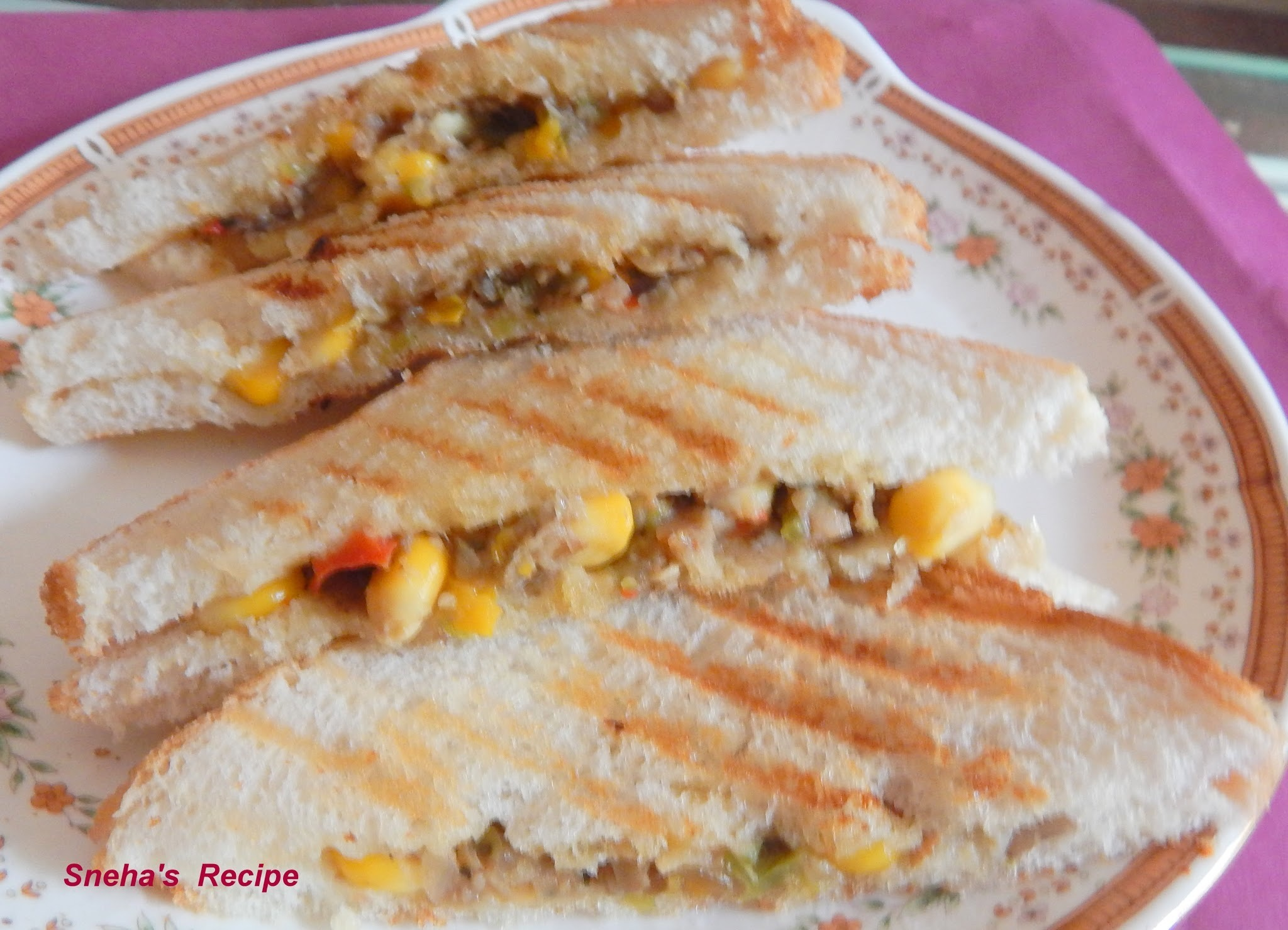 Corn Cheese Sandwich
