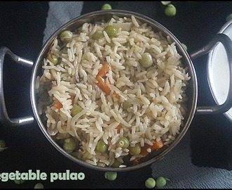 VEGETABLE PULAO/LUNCH BOX IDEAS