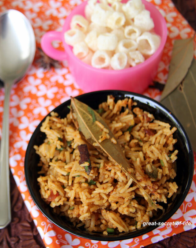 Kuska Biryani Recipe - Plain Biryani rice - Kuska Rice - Simple one pot meal