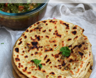 Whole Wheat Kulchas with Onion Stuffing