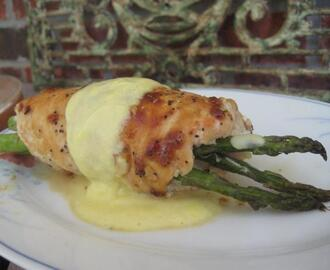 Nif's Asparagus Stuffed Chicken Breast With Hollandaise Sauce