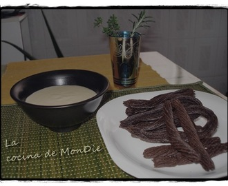Churros de chocolate con natillas caseras