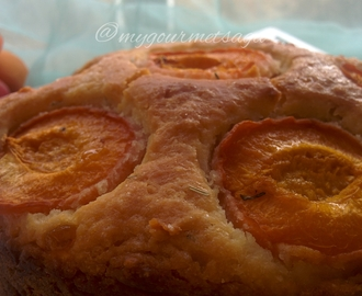 Dimply Apricot & Rosmary cake-Eggless & butterfree