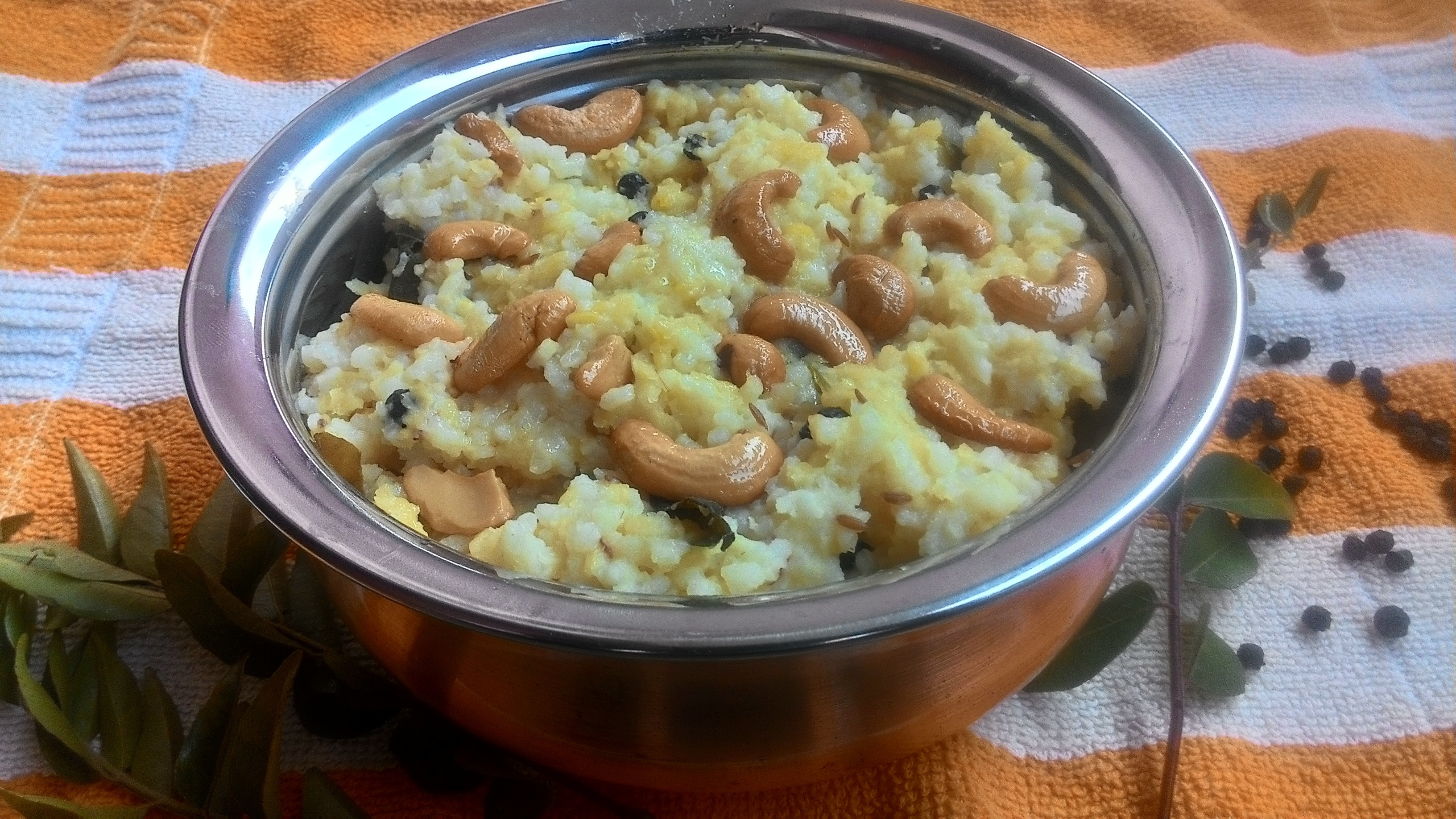 Ven Pongal recipe, how to make ven pongal recipe, khara pongal recipe