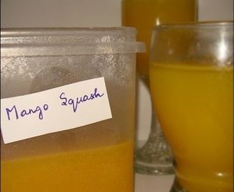 Mango Squash & Home Made Mango Cooler