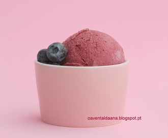 Gelado Vegen de Mirtilos na Bimby / Vegan Blueberry  ice cream