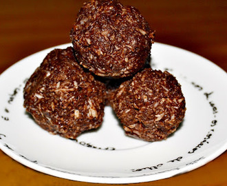 Bolinhos de Chocolate e Coco (Vegan) / Vegan Chocolate and Coconut Macaroons