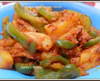 Ajwaini Aloo Shimla Mirch - Carroom Seeds Potato and Capsicum Sabji