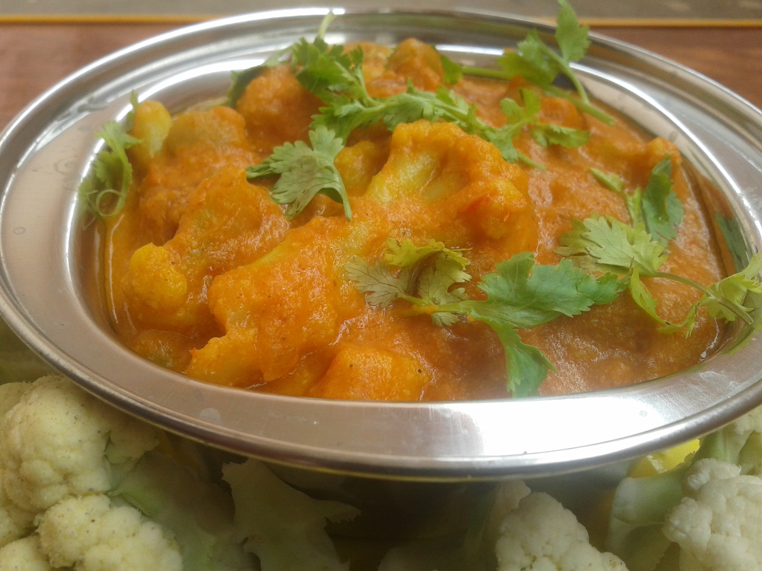 Cauliflower Matar Gravy : vegetarian, Famous Indian Recipes | veg recipes