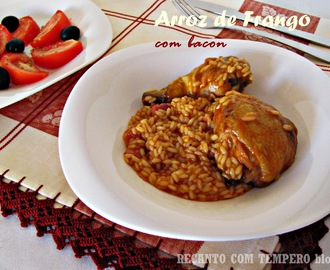 Arroz de frango com bacon