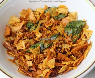 Pappadam Thoran / Stir fried Pappad