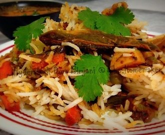 Hyderabadi Style Vegetable Dum Biryani  in Oven