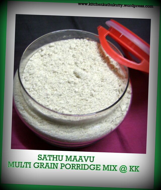 Home-made Multigrain Porridge Mix/Health Drink Mix/Sathu Maavu