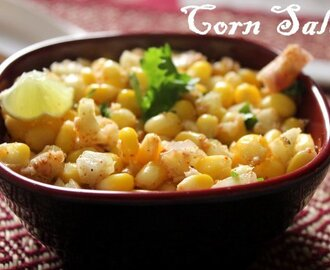 Corn salad recipe –  How to make sweet corn salad recipe – salad recipes