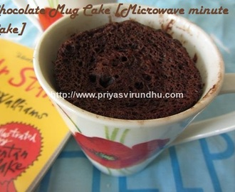 Chocolate Mug Cake- -  Microwave Minute Cake
