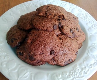 Receta de Galletas con Nutella o Nocilla y chips de chocolate {Cookies Doble Chocolate}