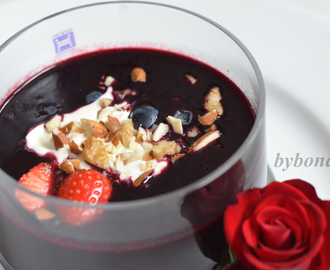 Blueberry soup – Healthy and delicious