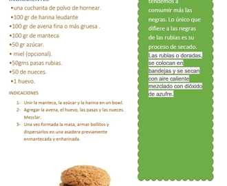 RECETA IMPRIMIBLE DE GALLETITAS DE AVENA CON FRUTOS SECOS