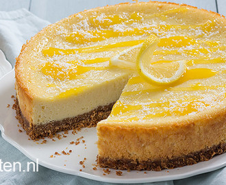 Citroen kokos cheesecake