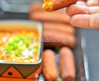 Schezwan Sauce Flavoured Mini Bread Cigars | Indo-Chinese Preparation
