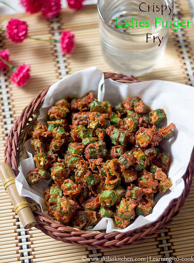 Crispy Okra fry | Crispy vendakkai fry | How to make crispy ladies finger fry | Crispy Bhindi Fry | Ladies finger recipes | Crispy vendakkai varuval | Side dish for rice