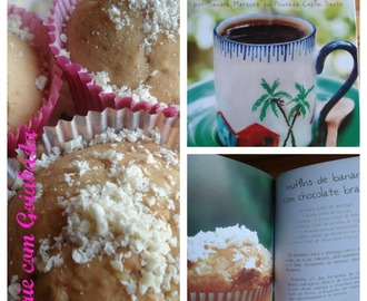 Muffins de Banana com Chocolate Branco
