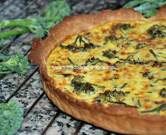 Quiche de bimi con bacon