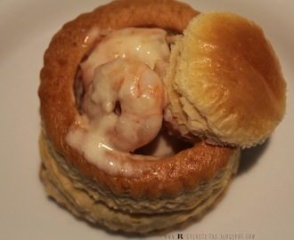 Vol-au-vent de Camarão e Alho francês | Shrimp and leek Vol-au-vent