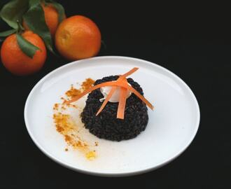 Riso venere agli agrumi e curcuma/ Citrus and turmeric black rice.