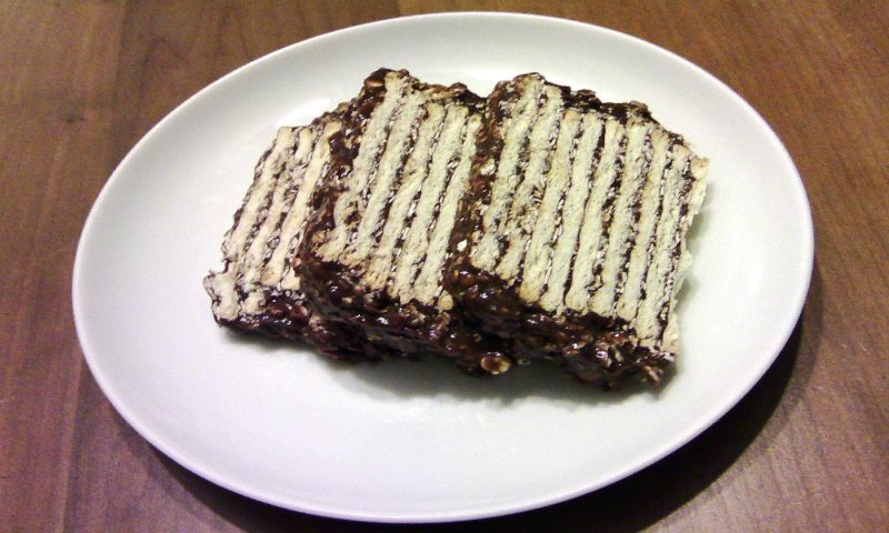 Turrón de Avena Quaker con Crackers y Chocolate