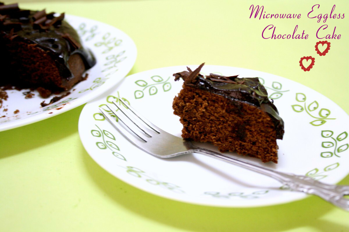 Microwave Eggless Chocolate Cake