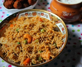 Vegetable Biryani Recipe / Vegetable Biryani in Pressure Cooker / Restaurant Style Veg Biryani Recipe