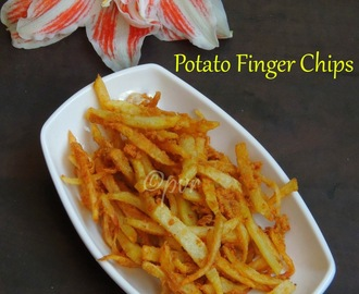 Crispy Potato Finger Chips - #MonsoonMojo