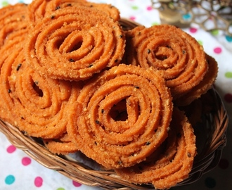 Rava Murukku Recipe / Sooji Chakkuli Recipe / Sooji Chakli Recipe - Krishna Jayanthi Recipes