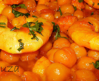 "GARBANZOS ""PEDROSILLANO"" CON LANGOSTINOS AL CURRY"