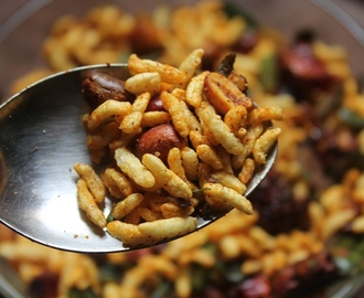 Masala Pori Recipe - Spicy Puffed Rice Recipe - Kara Pori Recipe