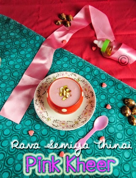PINK KHEER I RAVA SEMIYA THINAI PAYASAM I MILLET KHEER RECIPES