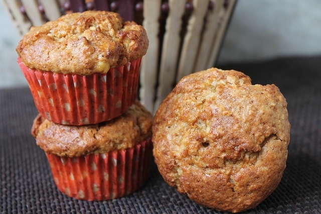Healthy Banana Oats Muffins Recipe - Eggless Banana Oats Muffins Recipe