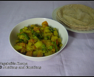 Vegetable Kurma / Vegetable Korma Recipe