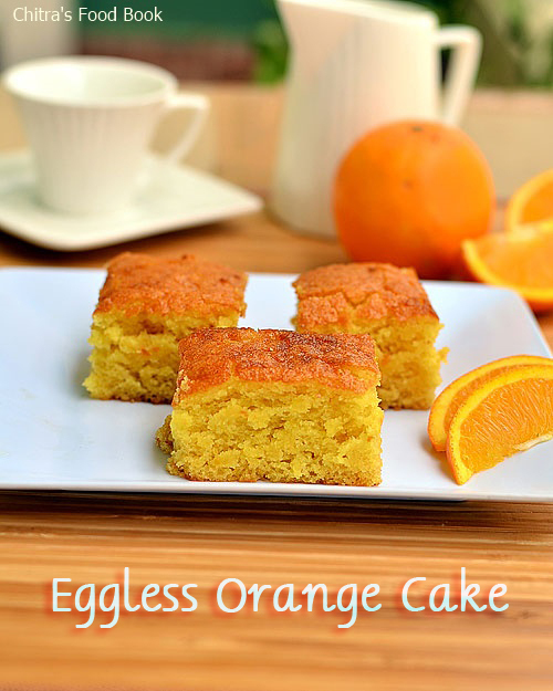 Eggless Orange Cake Recipe Without Condensed Milk