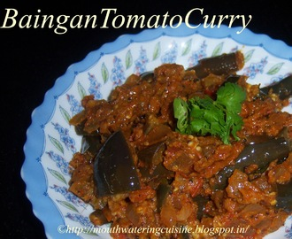Brinjal Tomato Curry -- Baingan Tomato Curry -- Vankaya Tomato Curry