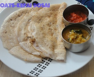 Instant oats-ragi dosa/Leftover recipes/Easy breakfast