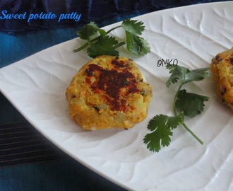 Sweetpotato patty/Sakaravalli Cutlet without breadcrumbs and less oil